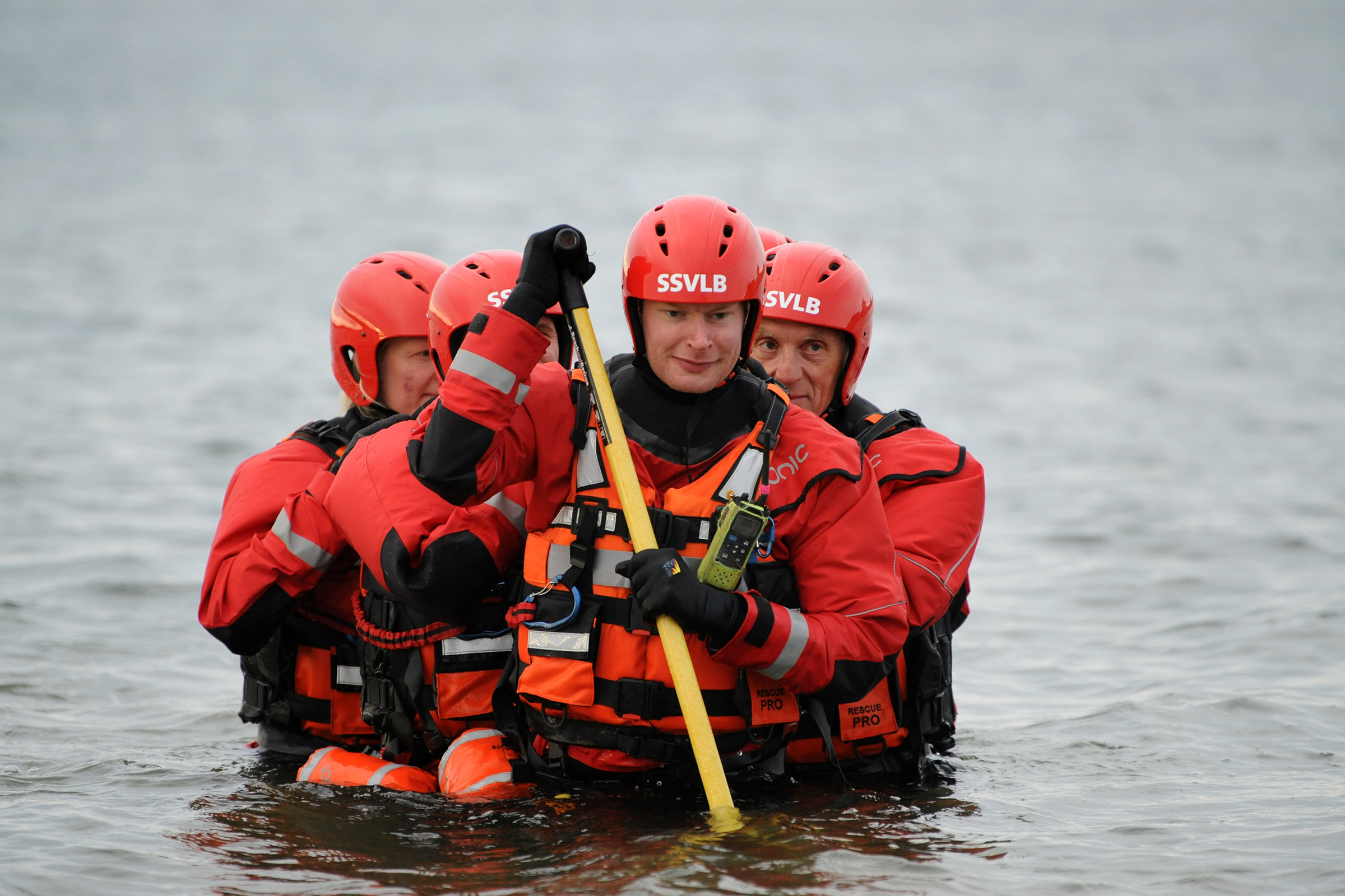 South Shields Volunteer Lifebrigade (SSVLB) - water rescue training at Littlehaven, South Shields.